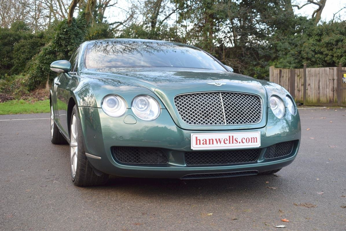 2004/04 Bentley Continental GT in Spruce Green Metallic For Sale (picture 1 of 6)