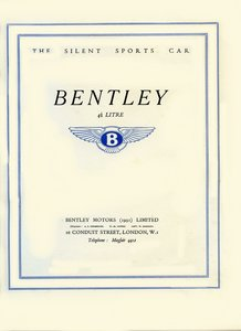 1931 Bentley Brochure