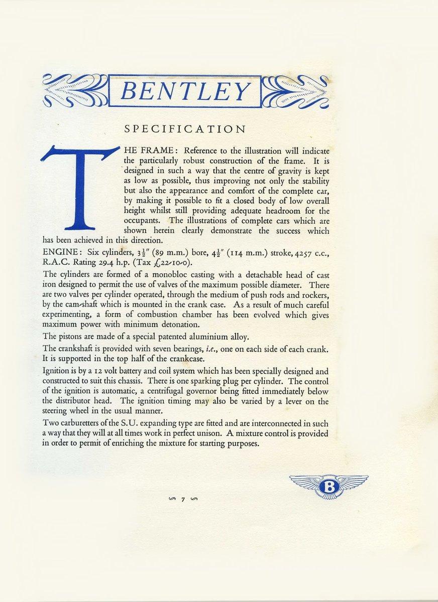 1931 Bentley Brochure ***PRICE DROP*** For Sale (picture 3 of 6)