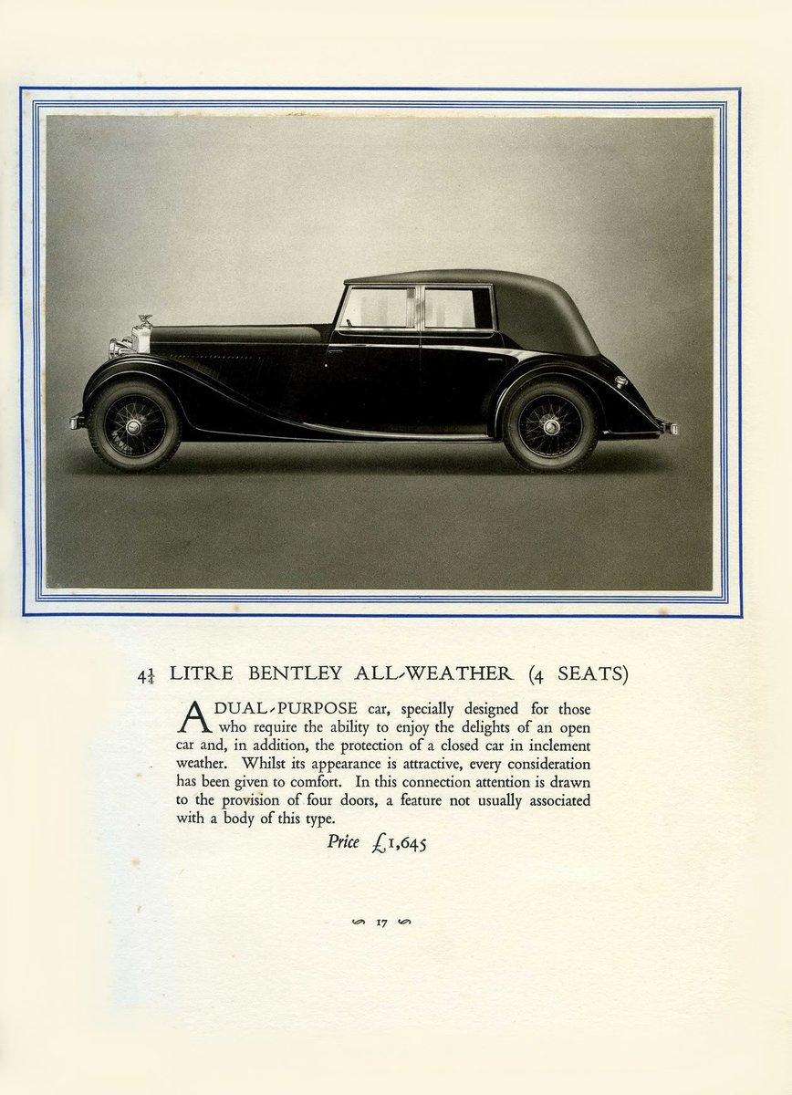 1931 Bentley Brochure ***PRICE DROP*** For Sale (picture 5 of 6)