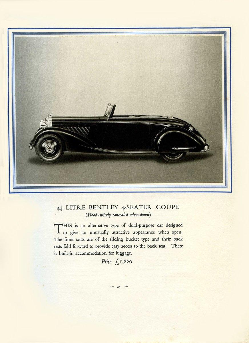 1931 Bentley Brochure ***PRICE DROP*** For Sale (picture 6 of 6)