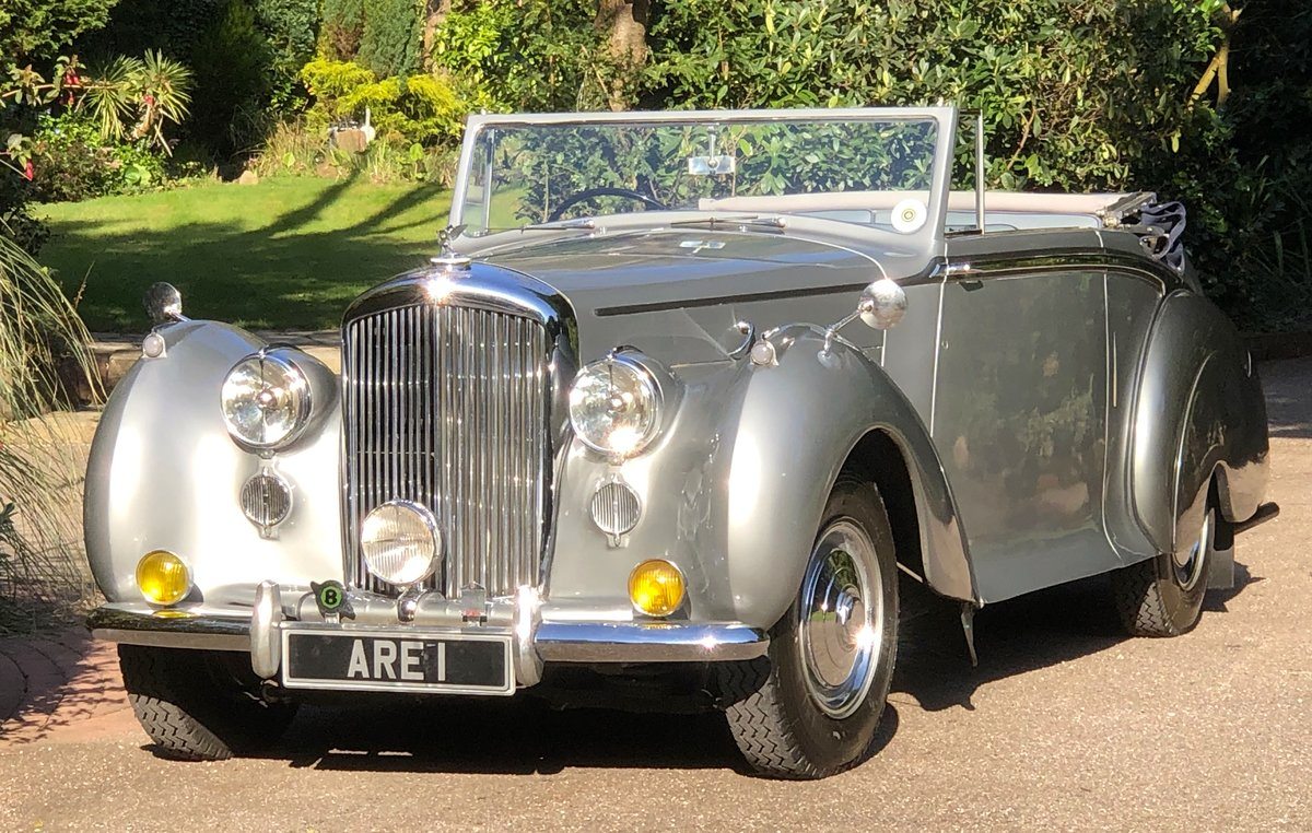 1949 BENTLEY MKVI Park Ward Convertible    Indian Royal History For Sale (picture 1 of 6)