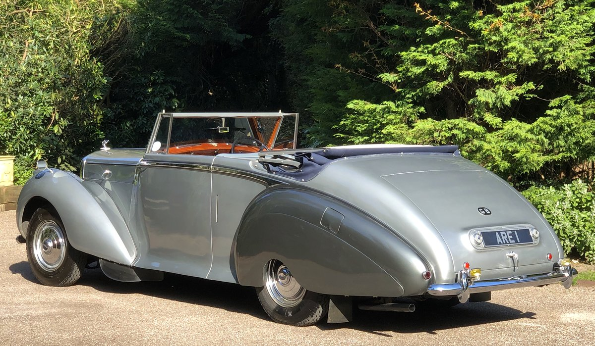 1949 BENTLEY MKVI Park Ward Convertible    Indian Royal History For Sale (picture 4 of 6)