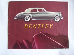 1957 BENTLEY S 1 COLOUR BROCHURE For Sale