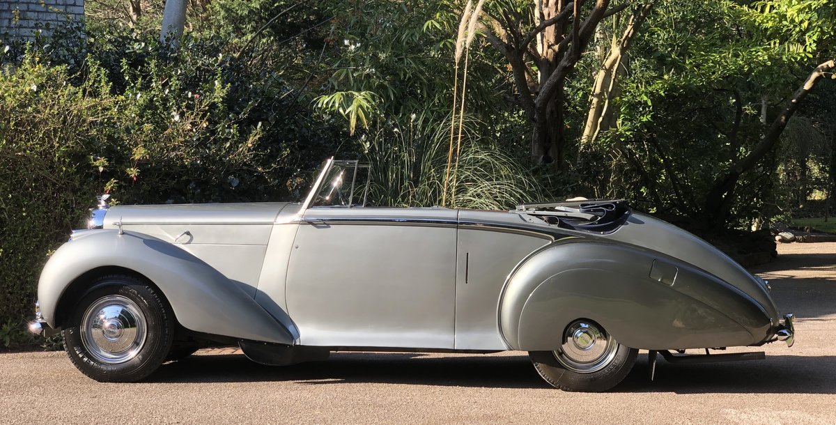 1949 BENTLEY MKVI Park Ward Convertible    Indian Royal History For Sale (picture 2 of 6)