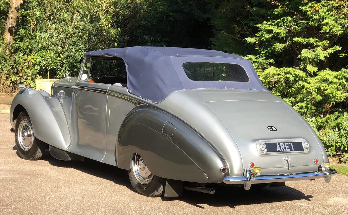 1949 BENTLEY MKVI Park Ward Convertible    Indian Royal History For Sale (picture 6 of 6)