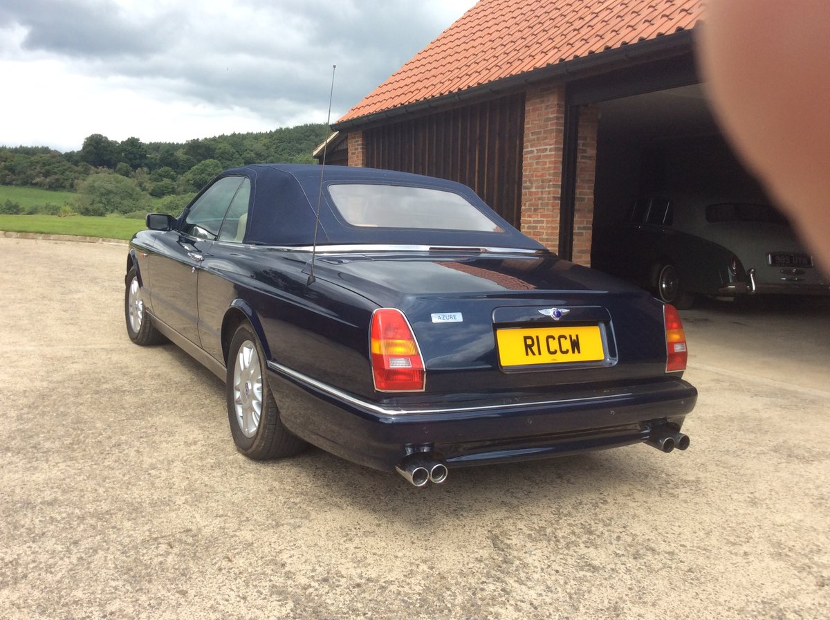 1999 Peacock blue Bentley Azure For Sale (picture 4 of 6)