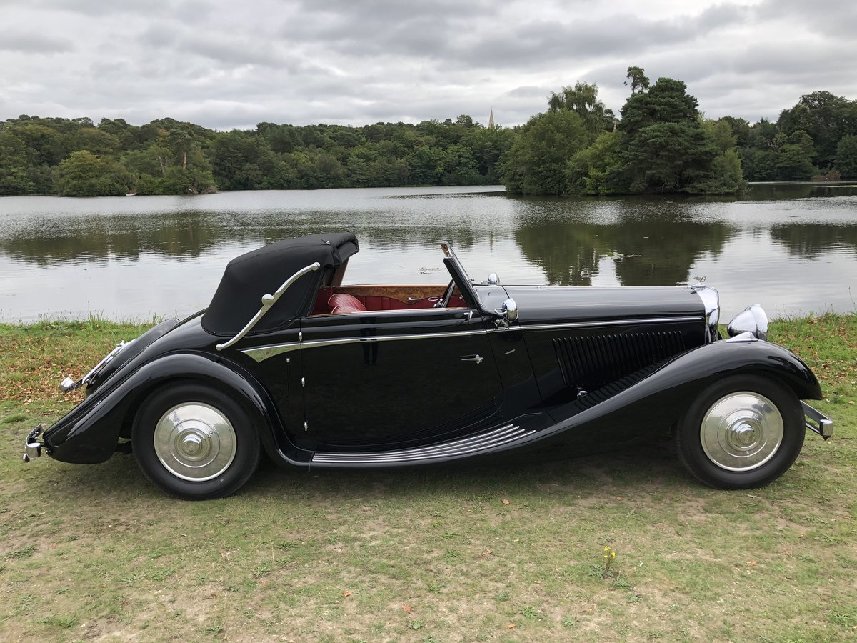 1936 Bentley 4 1/4 Litre 3 Position Drophead Coupe by Veth & Zoon For Sale (picture 1 of 2)