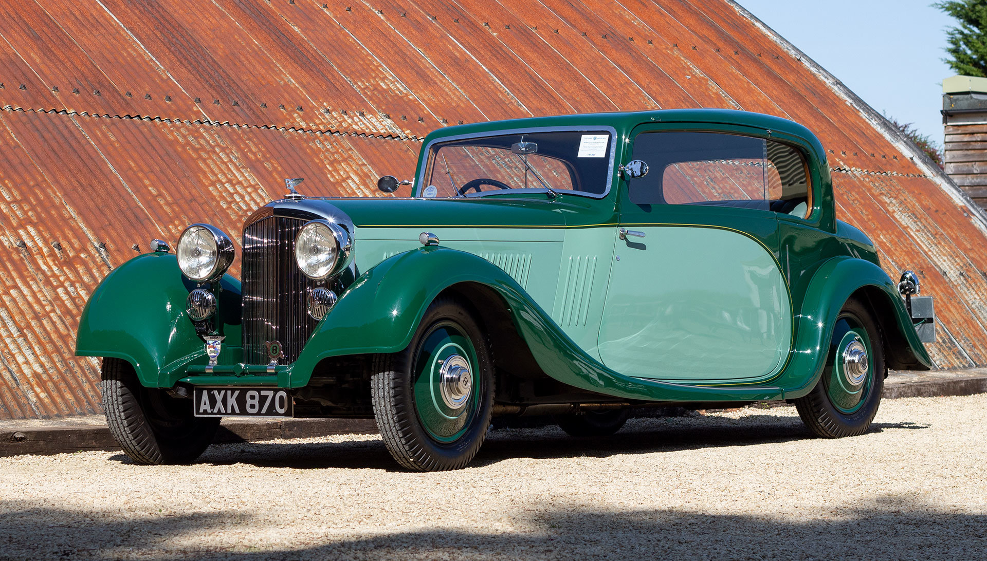 1934 Bentley 3½ Litre Pillarless Coupé by Gurney Nutting For Sale (picture 1 of 17)