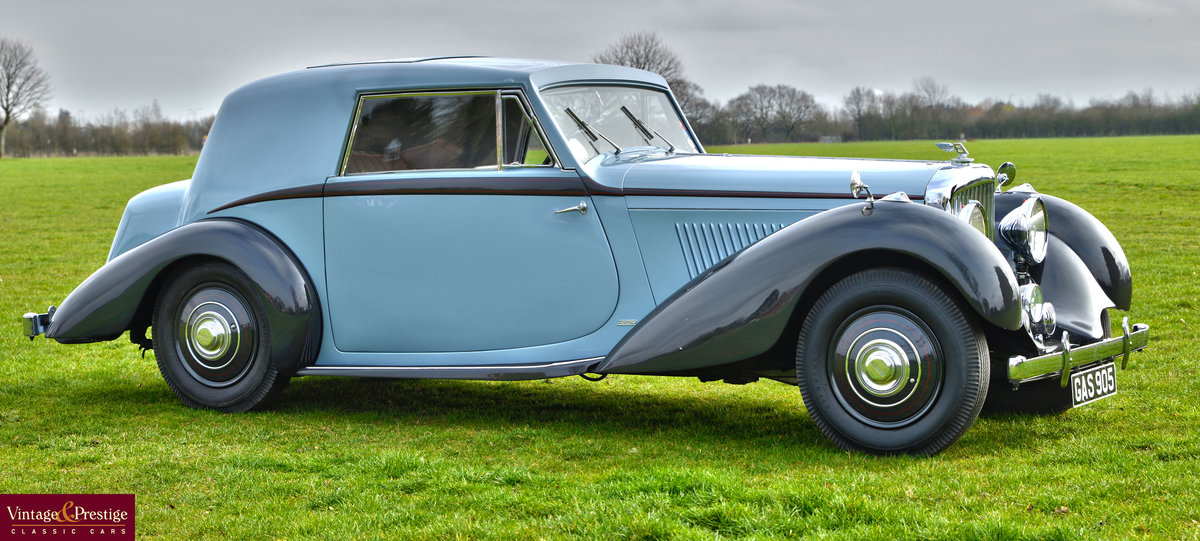 1938 DERBY BENTLEY 4.25 MR OVERDRIVE SERIES COUPE BY DE VILL For Sale (picture 1 of 6)