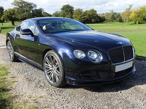 2014 Bentley Cont GT Speed - Blk/Linen - 24,380mls - 1 Owner