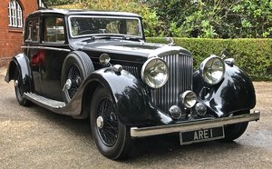 Picture of 1937 BENTLEY 4 1/4 Litre DERBY MANN EGERTON SPORTS SALOON For Sale