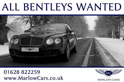 BENTLEY CONTINENTAL GT WANTED  Wanted (picture 1 of 1)