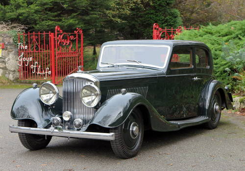 1937 Bentley 4 ¼ Ltr Kellner Pillarless Sports Saloon B97HM For Sale (picture 1 of 6)