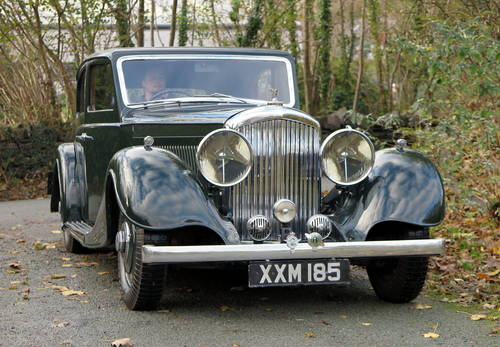 1937 Bentley 4 ¼ Ltr Kellner Pillarless Sports Saloon B97HM For Sale (picture 3 of 6)