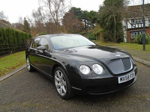 2008 BENTLEY FLYING SPUR 08/58 REG ONLY 5,620 MILES  SOLD (picture 1 of 6)