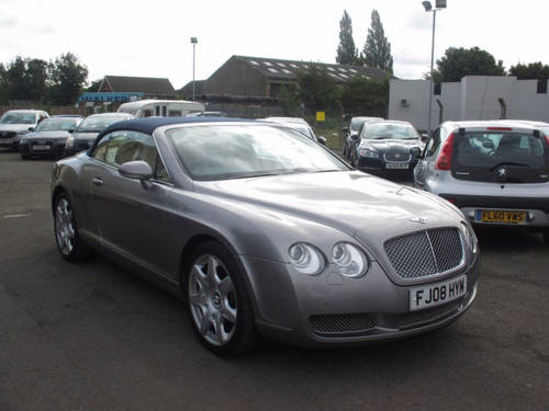 2008 BENTLEY CONTINENTAL 6.0 GTC 2d AUTO 550 BHP For Sale (picture 1 of 6)