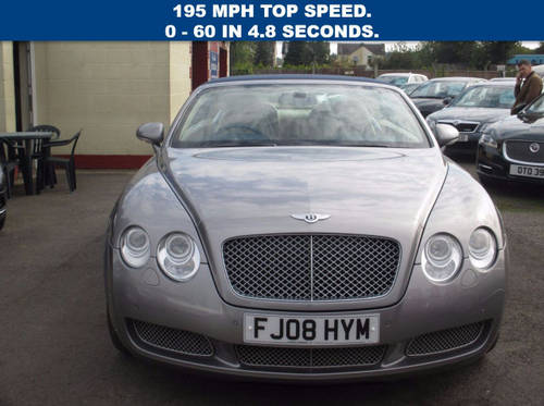 2008 BENTLEY CONTINENTAL 6.0 GTC 2d AUTO 550 BHP For Sale (picture 2 of 6)
