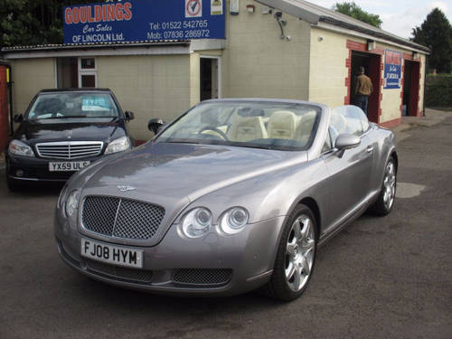 2008 BENTLEY CONTINENTAL 6.0 GTC 2d AUTO 550 BHP For Sale (picture 3 of 6)