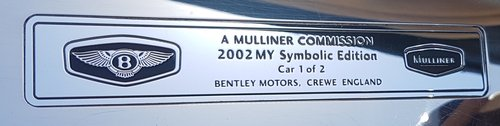 2002 BENTLEY AZURE MULLINER SYMBOLIC - 10088 MILES ONLY For Sale (picture 6 of 6)