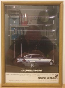 Original 1992 BMW 3 Series Framed Advert