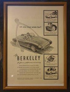1957 Berkeley Advert Original