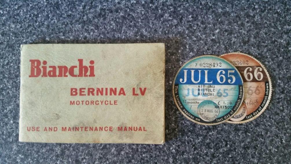 1961 BIANCHI BERNINA LV 125cc VERY RARE ORIGINAL UK BIKE  For Sale (picture 4 of 4)