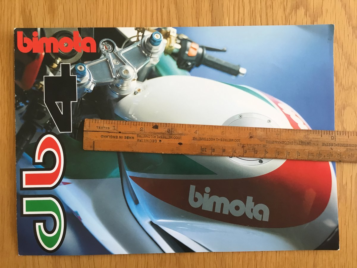 1998 Bimota Db4 brochure For Sale (picture 1 of 2)