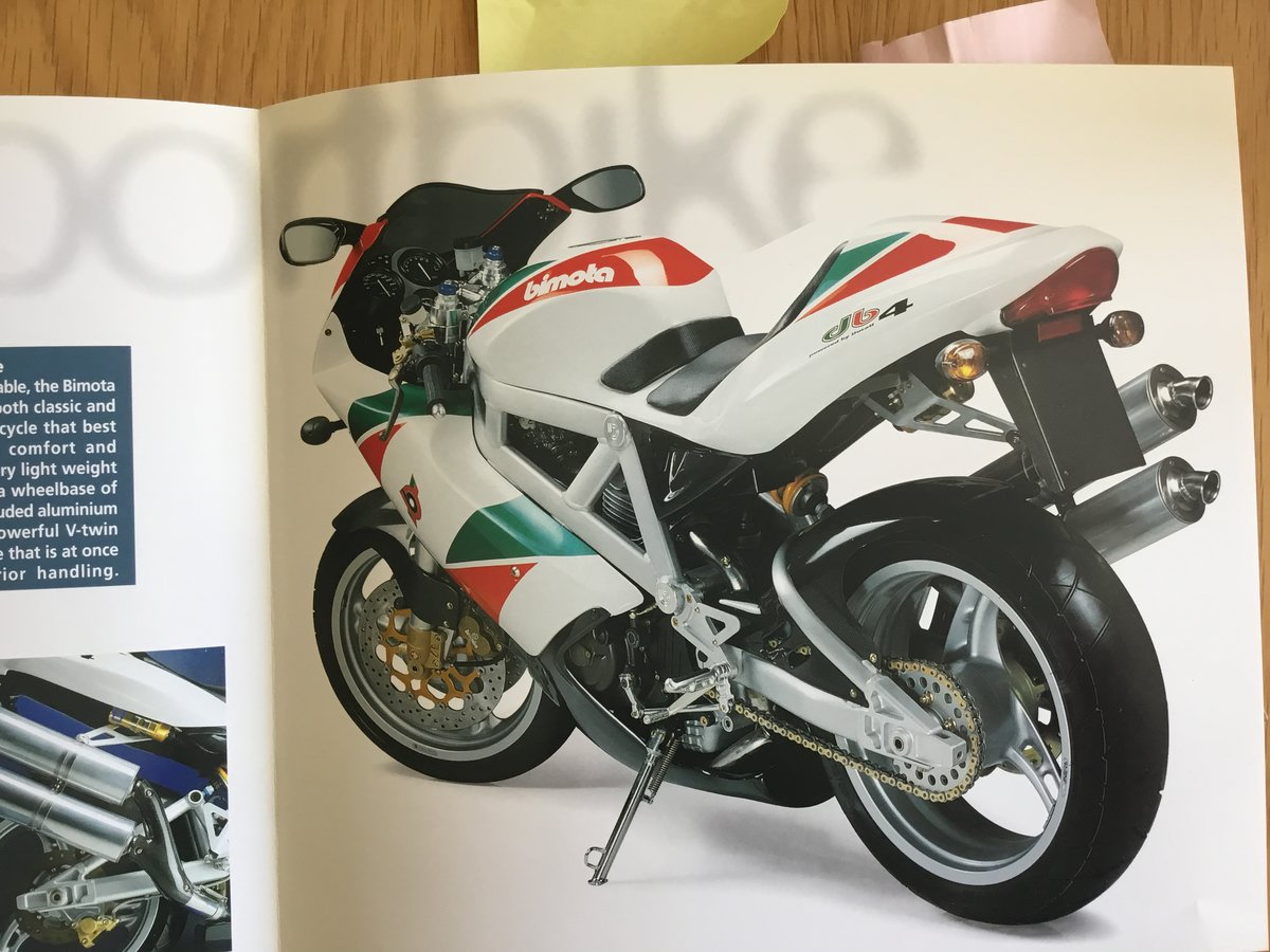 1998 Bimota Db4 brochure For Sale (picture 2 of 2)