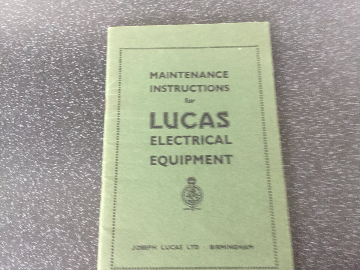 Lucas maintenance handbook For Sale (picture 1 of 6)