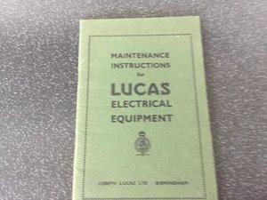 Lucas maintenance handbook