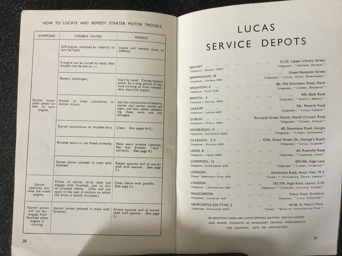 Lucas maintenance handbook For Sale (picture 6 of 6)