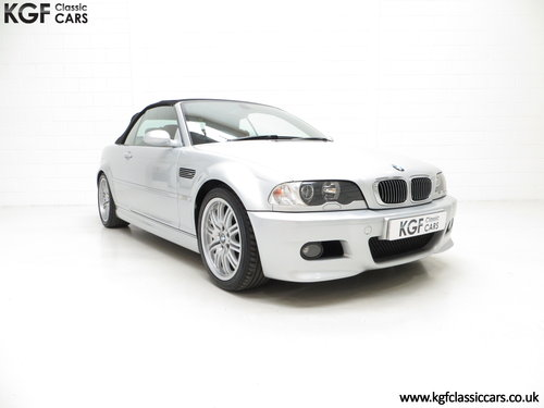 2003 A Desirable Facelift BMW E46 M3 Convertible, 67,585 Miles SOLD (picture 1 of 6)