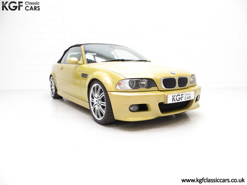 2001 A Phenomenal BMW E46 M3 Convertible with 31,509 Miles SOLD (picture 1 of 6)
