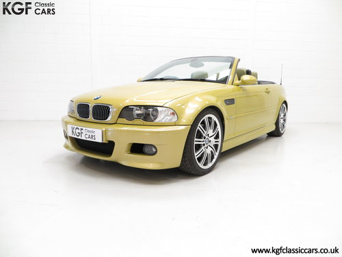 2001 A Phenomenal BMW E46 M3 Convertible with 31,509 Miles SOLD (picture 2 of 6)