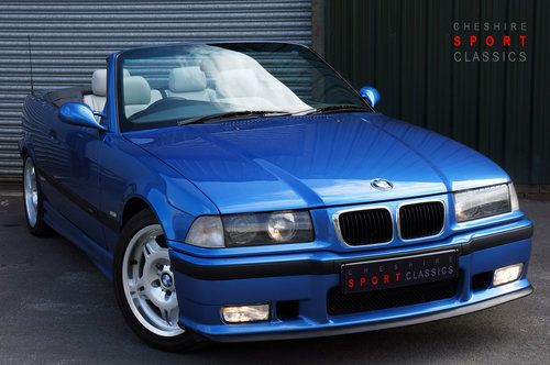 1999 BMW E36 M3 Evo Cab, 97k, Estoril, Grey Leather, Air Con, HK, SOLD (picture 1 of 6)