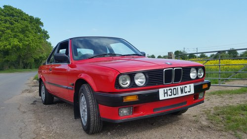1990  BMW E30 316i Convertible/Cabriolet  TC Baur roof For Sale (picture 1 of 6)
