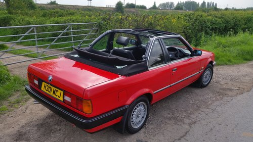 1990  BMW E30 316i Convertible/Cabriolet  TC Baur roof For Sale (picture 4 of 6)