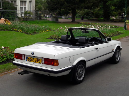 1990 BMW E30 325i Cabriolet Convertible Auto ***Concours*** SOLD (picture 2 of 6)