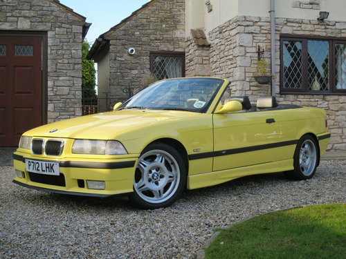 1997 BMW M3 E36 Evolution Convertible Dakar Yellow Immaculate  For Sale (picture 1 of 6)