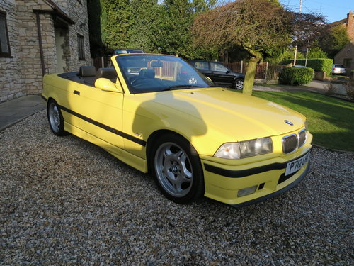 1997 BMW M3 E36 Evolution Convertible Dakar Yellow Immaculate  For Sale (picture 2 of 6)