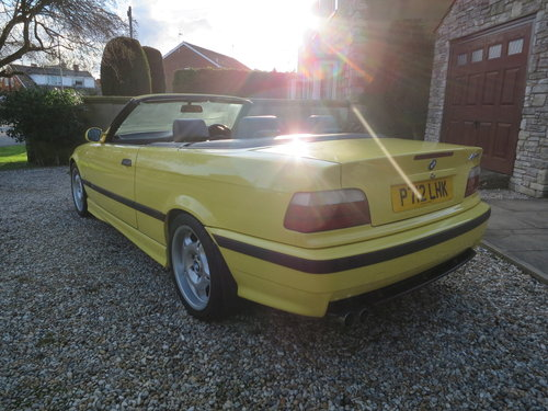 1997 BMW M3 E36 Evolution Convertible Dakar Yellow Immaculate  For Sale (picture 3 of 6)