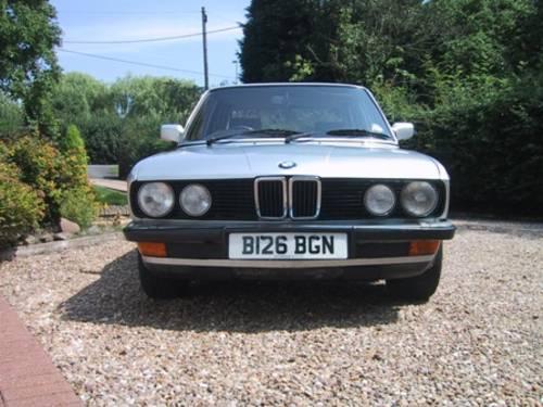 1984 BMW E28 520i Auto 11m MOT SOLD (picture 1 of 6)