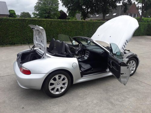 BMW Z3 TYPE 3.0 I ARTIC SILVER 2001 SERVICE BOOKS 17950 euro SOLD (picture 6 of 6)