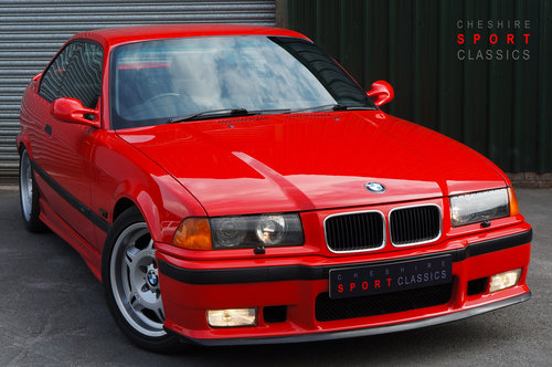 1995 BMW E36 M3 3.0 Coupe, Hellrot, Black Vader Seats, 111k. SOLD (picture 1 of 6)