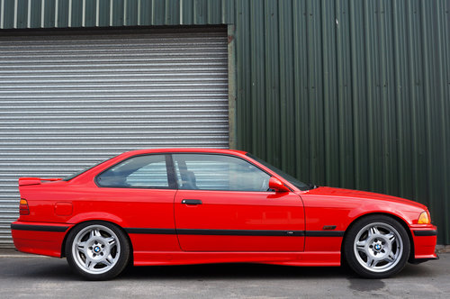 1995 BMW E36 M3 3.0 Coupe, Hellrot, Black Vader Seats, 111k. SOLD (picture 2 of 6)