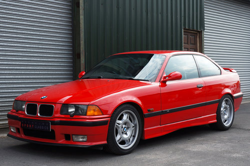 1995 BMW E36 M3 3.0 Coupe, Hellrot, Black Vader Seats, 111k. SOLD (picture 3 of 6)