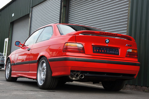 1995 BMW E36 M3 3.0 Coupe, Hellrot, Black Vader Seats, 111k. SOLD (picture 4 of 6)