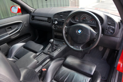 1995 BMW E36 M3 3.0 Coupe, Hellrot, Black Vader Seats, 111k. SOLD (picture 5 of 6)