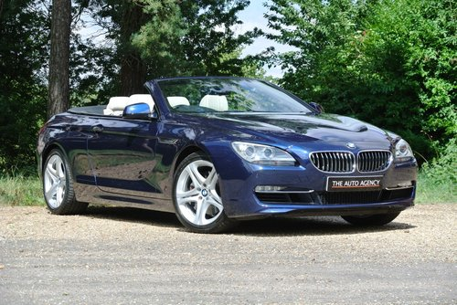 2012 BMW 640i SE CONVERTIBLE **EXCLUSIVE WHITE LEATHER** For Sale (picture 1 of 6)